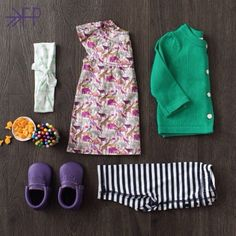 Love this look for little girl's - including the new Huckleberry moccs from Freshly PIcked #kidsfashion