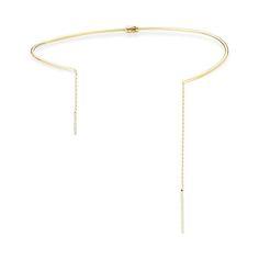 Choked Up - Mateo New York 14k yellow gold and diamond collar