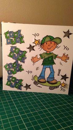 Handmade boys card