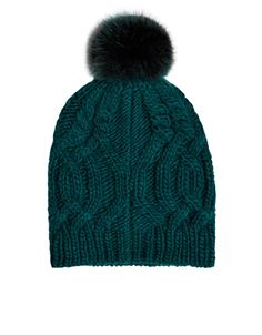 Rack up those cosy points with our cable-knit beanie hat, topped with a faux fur pom-pom. The stretchy ribbed trim creates a comfy and secure fit. Pom Pom Beanie Hat, Knit Beanie Hat, Cable Knit Hat, Faux Fur Pom Pom, Caps Hats, Knitted Hats, Winter Hats, Knitting, Fur Hats
