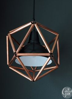 DIY Geometric Copper Pipe Pendant