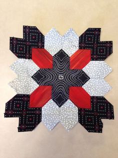 Lucy Boston (POTC/Patchwork of the Crosses) quilt block made with ...