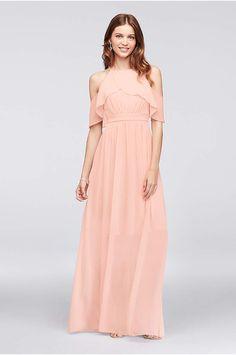 72c60f7f8d98 View Long Reverie Dress at David s Bridal Abiti Da Damigella D onore Color  Pesca