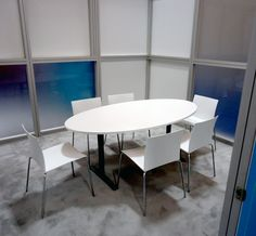 Conference Table and Chairs (shown inside conference room onsite at tradeshow) Table And Chairs, Dining Table, Conference Table, Trade Show, Furniture, Home Decor, Dinning Table, Interior Design, Dining Rooms