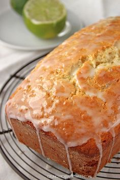 Coconut Lime Loaf Cake - incredibly easy loaf cake with the best crumb ever! You will love the coconut and lime flavors together! Mini Desserts, No Bake Desserts, Just Desserts, Delicious Desserts, Yummy Food, Loaf Cake, Bread Cake, Dessert Bread, Baking Recipes