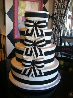Black and white striped bow cake | Flickr - Photo Sharing!