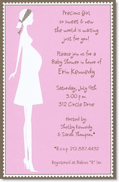 Download Now FREE Template Baby Girl Shower Invitation Wordings