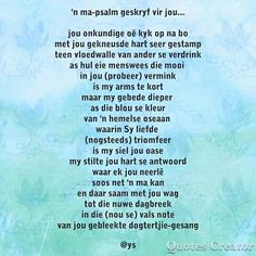 Butterfly Room, Special Words, Afrikaans, Mom Quotes, Psalms, Special Occasion, Lyrics, Spirituality, Girly
