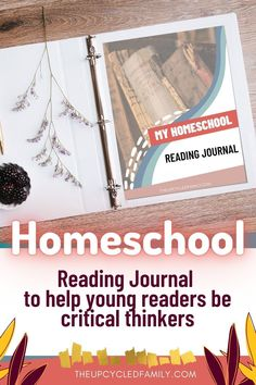 Looking for an easy way for your independent readers to more deeply explore the books they read? Try this easy to use printable reading journal for creating an environment for thought provoking reading engagement. Create critical thinking and self-directed thought in your young learners. #homeschool #journal #ideas #reading #readingjournal #unschool