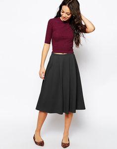New Look | New Look Waffle Midi Skirt at ASOS
