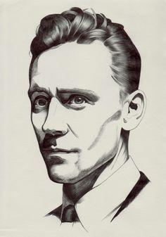Tom Hiddleston fan art.