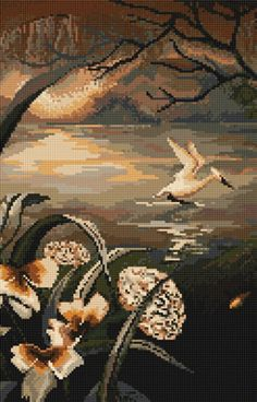By the Lake Cross Stitch Kit By Luca S