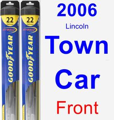 Front Wiper Blade Pack for 2006 Lincoln Town Car - Hybrid