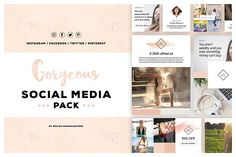 Gorgeous Social Media Template Pack by DESIGN HQ on @creativemarket