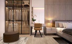 Phối cảnh Phòng ngủ Master tại nhà mẫu căn hộ Jamila Khang Điền