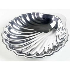 "Beautifully polished, hand crafted shell shaped 10"" x 11"" serving bowl. #shellbowl #beach"