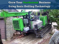 Grow Your Geothermal Business Using Sonic Drilling ... - IGSHPA Drill, Technology, Business, Tecnologia, Hole Punch, Tech, Drills, Engineering, Drill Bit