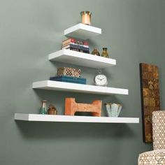 Southern Enterprises Diego Floating Shelf in White HD888507 at The Home Depot - Mobile