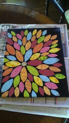 Canvas Art with Scrapbook paper