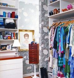 love this little closet. looks totally doable. via Little Green Notebook