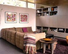 Togo sofa (tan leather would be nice) Dwell On Design, Modern Design, Living Area, Living Room, Pool Houses, Apartment Therapy, Small Spaces, Sofas, House Design