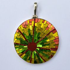 Mosaic jewelry brings a fabulously unique edge to body adornment. Read on to see some gorgeous examples of these tiny and terrific micro mosaic designs. Mosaic Crafts, Mosaic Projects, Mosaic Art, Mosaic Glass, Mosaic Tiles, Mosaic Rocks, Fused Glass, Body Adornment, Marble Stones