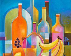 Cubista abstracto pintura Original cubismo arte por MarlinaVera