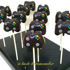 Xbox controller inspired cake pops