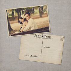 vintage wedding thank you postcard - $72.00, via etsy