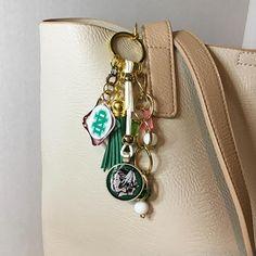 Forever Sioux purse charm/Fighting Hawks/UND logo/tassel