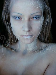 Jack Frost makeup... thinking I could use this look at bit for my mermaid costume... hmmm