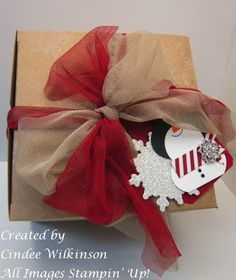 Just Sponge It Extra Large Boxes by Stampin' Up!, Clearance Rack, Snowman Tag