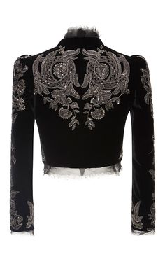 Embroidered Cropped Jacket by Roberto Cavalli Kpop Fashion Outfits, Stage Outfits, Modest Fashion, Boho Fashion, Fashion Dresses, Classic Outfits, Unique Outfits, Manga Clothes, Dress Design Sketches