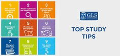 Check out the top study tips. #GLSUniversity #Education #Tips