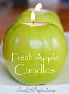 Here's an easy tutorial with loads of pictures for how to make apple tea lights. These are such a gorgeous idea to decorate an autum table!!
