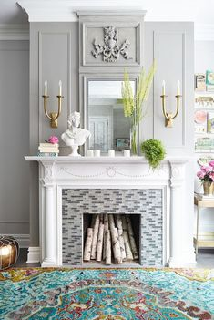 13 Creative DIY Ideas To Decorate a Non-Working Fireplace