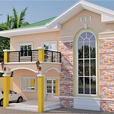 House Arch Design, Two Story House Design, 2 Storey House Design, Classic House Design, Home Building Design, Bungalow House Design, Modern House Facades, Modern Bungalow House, Bungalow House Plans