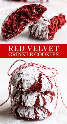 Red Velvet Crinkle Cookies are thick and fudgy with just a hint of cocoa flavor. This homemade, from-scratch recipe is the BEST Valentine's Day or Christmas dessert! No cake mix here. You won't believe how easy it is to make these soft cookies! Red Velvet Crinkle Cookies, Red Velvet Crinkles, Crinkle Cookies Cake Mix, Red Velvet Cheesecake Cookies, Red Velvet Truffles, Chocolate Crinkle Cookies, Cake Chocolate, Valentine Desserts, Christmas Desserts