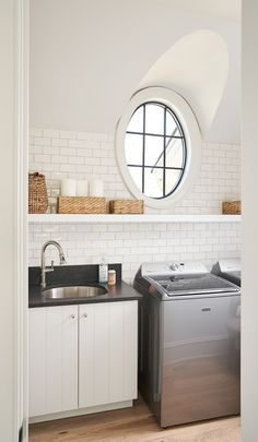 Shiplap Cabinet Vertical Shiplap Cabinet The Laundry room features Shiplap-style cabinets in Benjamin Moore OC-64 Pure White and Black Absolute Granite countertop Shiplap Cabinet Vertical Shiplap Cabinet The Laundry room features Shiplap-style cabinets in Benjamin Moore OC-64 Pure White #ShiplapCabinet #VerticalShiplap #Cabinet #Laundryroom #shiplapstyle#BenjaminMoore #OC64 #BMPureWhite Fireplace Wall, Fireplace Design, Laundry Rooms, Mud Rooms, Shiplap Paneling, Laundry Room Inspiration, Custom Builders, Interior Windows, Lakefront Homes