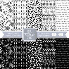 Black And White Heart, Heart Outline, Drawing Frames, Line Background, Heart Illustration, Outline Drawings, Doodle Patterns, Collage Sheet, Flower Prints