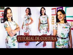 Corte e Costura: Vestido Evasê Simples [ vestido fácil – iniciante] | Cantinho do Video Costura em Roupas