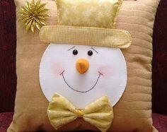 Almofada Natalina Boneco de Neve