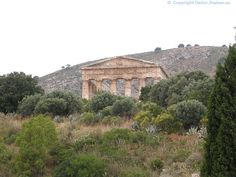 Italy - Sicily -Greek Temple of Segesta (front view)