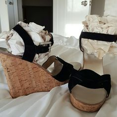 Michael Kors wedges or sandals Never worn. Suede upper super cute. Goes with anything. Michael Kors Shoes Wedges