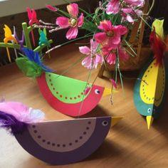 Мастер-класс «Весенние птички из бумаги»