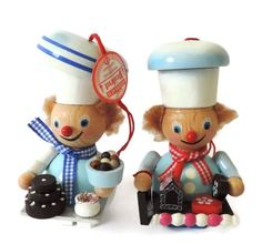 Set of 2 Steinbach Ornaments Mini Baker Pastry Chef Made in Germany New in Box #Steinbach #Ornaments #chef