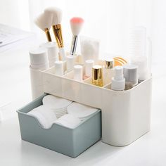 Cheap makeup storage drawers, Buy Quality makeup organizer directly from China storage drawers Suppliers: Saving Space Desktop Comestics Makeup Storage Drawer Type Box makeup organizer make up organizador escritori #5 #makeuporganizercheap #makeuporganizerdrawer #makeuporganizerstorage