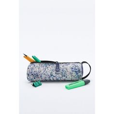 Mi-Pac Marble Print Pencil Case (€14) ❤ liked on Polyvore featuring home, home decor, office accessories, blue, blue pens, zipper pencil pouch, zipper pencil case and zip pencil case