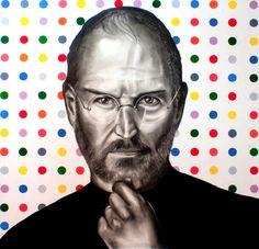"Steve Jobs Portrait ""hungry and fool ..."" by gennaro Santaniello"