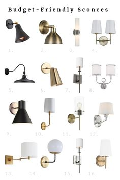 I recently installed two inexpensive fixtures in our bathroom refresh! Here are some of the other budget-friendly lighting options from Lowe's Home Improvement I'm loving! From vanity lights, to overhead fixtures, an Decor, Sconces Bedroom, Bathroom Lighting, Budget Friendly Lighting, Bathroom Interior Design, Home Lighting, Bathroom Refresh, Bathroom Sconce Lighting, Bathroom Sconces